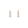 Elara Earrings, 3 Point - Valley Rose Ethical Fine Jewelry 14K Fairmined Gold