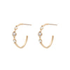 Orion's Belt Hoops - Valley Rose Ethical Fine Jewelry 14K Fairmined Gold