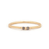 Diamond Double Étoile Ring - Valley Rose Ethical Fine Jewelry 14K Fairmined Gold