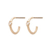 Mini Étoile Hoops - Valley Rose Ethical Fine Jewelry 14K Fairmined Gold
