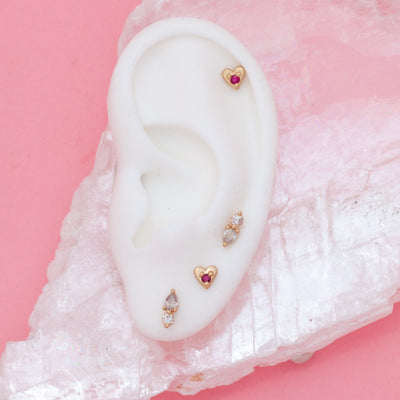 Amare Heart Earrings - Valley Rose Ethical & Sustainable Fine Jewelry