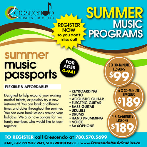 Summer Music Lessons 2019 - Flex Pass