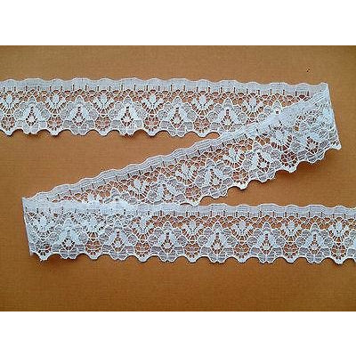 White Nottingham Craft Lace Trimming   3 cm/1.25
