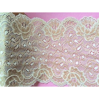 Skintone Coffee Iridescent Sparkle Stretch French Lace14.5 cm/5.75