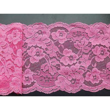 Bright Pink French Lace 12.5 cm/5""