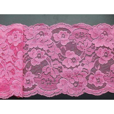 Bright Pink French Lace 12.5 cm/5