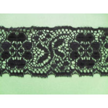 Black Nottingham Crochet Lace 7 cm/2.75""