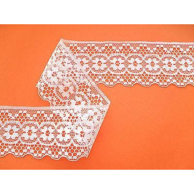 Ivory 'Antique' Look Nottingham Lace  Lace 5 cm/2