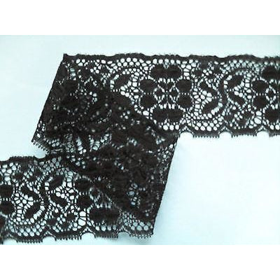 Black Nottingham Crochet Lace 7 cm/2.75