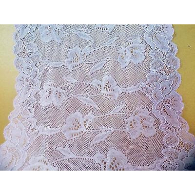 Dusky Lilac Stretch French Wide  Lace   22 cm/8.5