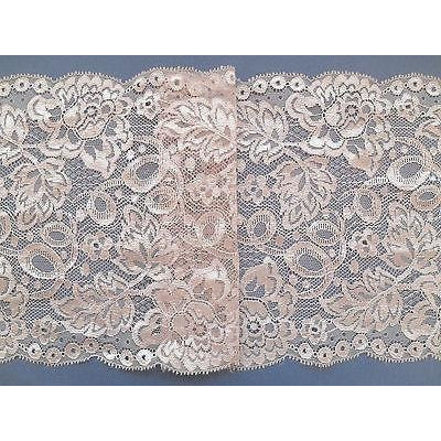 Dusky Pink Wide Flower Lace 6.75