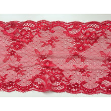 Delicate Red Wide Clipped Lace 18 cm/7""