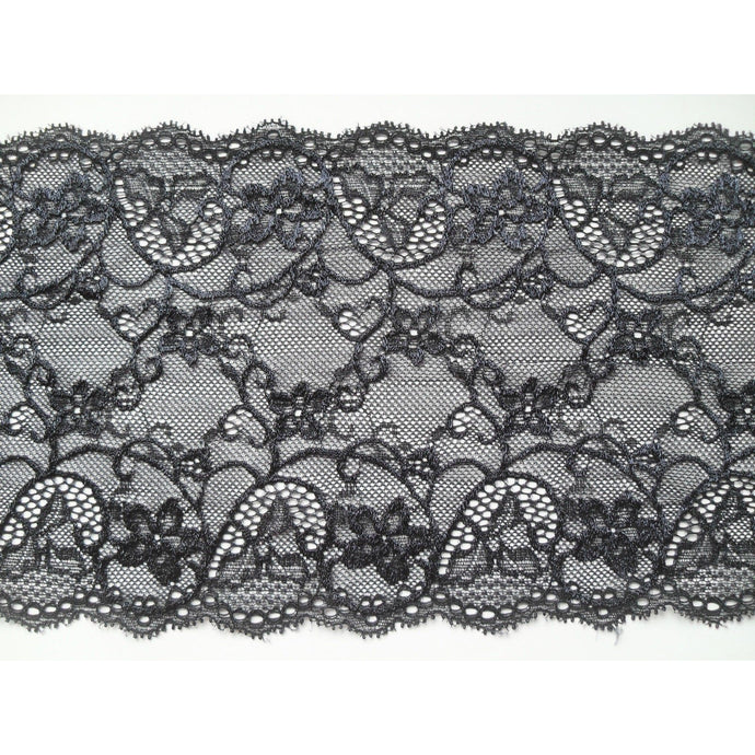Black Silky Soft Stretch Lace 17cm/6.75