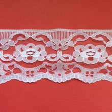 White Nottingham Lace Trim 6 cm/2.5""