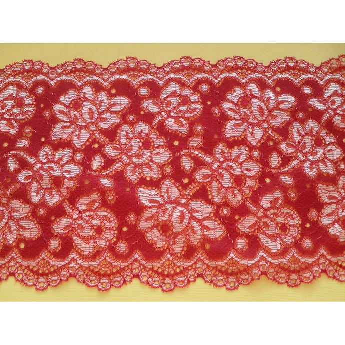 Red Scalloped Soft Lace 15 cm/6