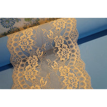 "Light Coffee Nude Delicate Lace Trim 7.5""/19 cm"