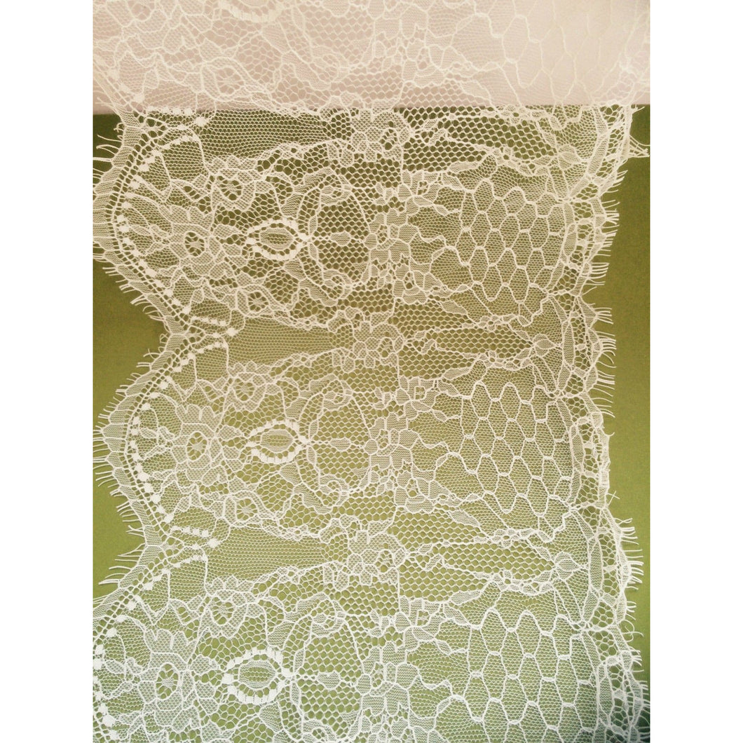 Beautiful  Delicate Ivory Cream Eyelash Lace  22 cm/8.5