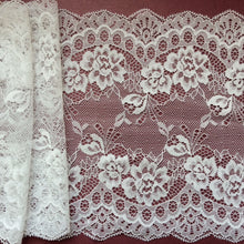 "10 metres Ivory Delicate Clipped Bridal Lace Wide 7.5""/19 cm Table Runner"