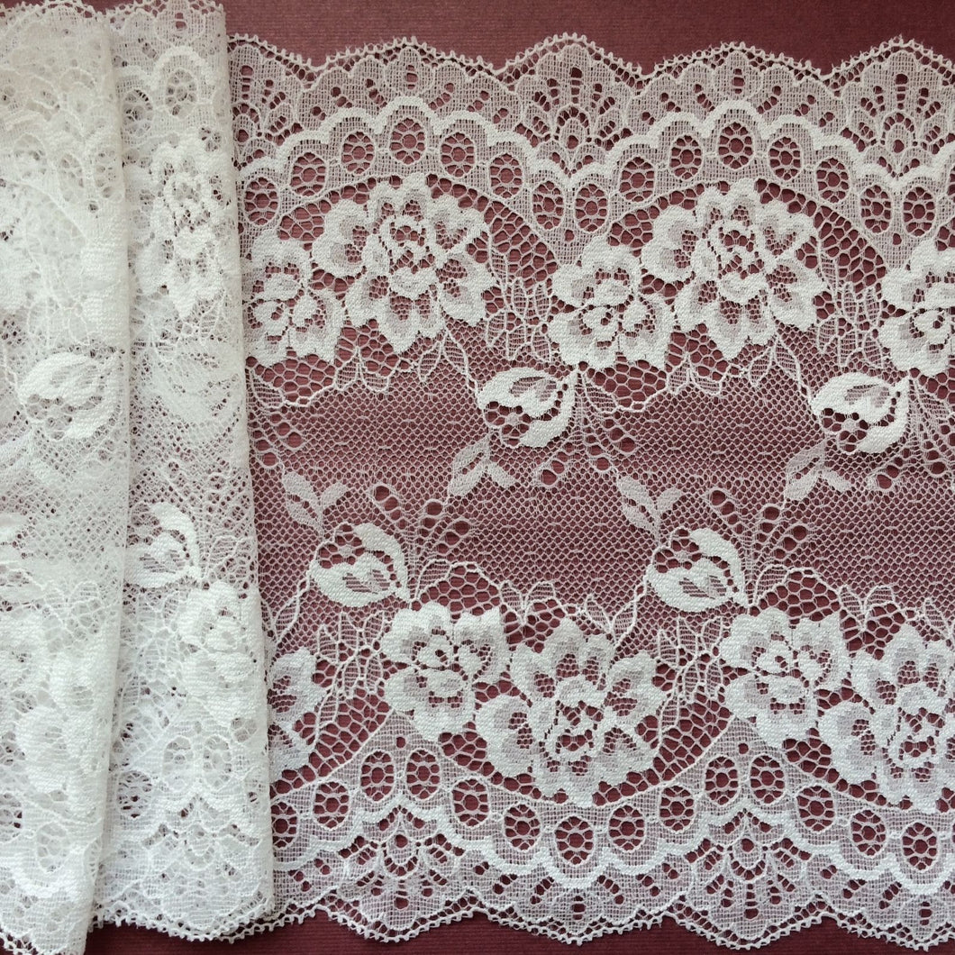 10 metres Ivory Delicate Clipped Bridal Lace Wide 7.5