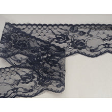 Delicate Black Nottingham Scalloped Lace   2.75""