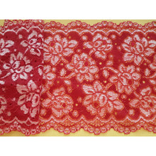Red Scalloped Soft Lace 15 cm/6""