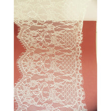 Beautiful  Delicate Ivory Cream Eyelash Lace  22 cm/8.5""