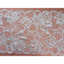 5 m Champagne Ivory Leavers Rose Lace 15 cm/6""