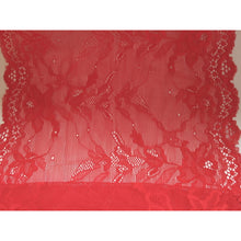 Beautiful Scarlet Red Stretch Wide Lace 24 cm/9.5""