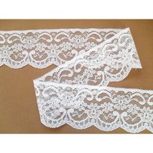 Pretty White Nottingham Lace Ribbon 6.5cm/2.5""