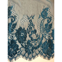 Teal Blue Green Wide Eyelash Lace Flounce  46 cm/19""