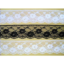 White Ivory or Black Delicate Pretty Nottingham Lace 7cm/2.5""