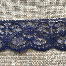 "Quality Nottingham Lace 2.5""/7cm White, Ivory, Black, Pink, Blue, Navy, Grey, Cerise, Red, Dusky Pink, Burgundy"
