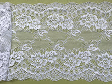 Delicate Clipped Silver Grey Wide Lace 19 cm/7.5""