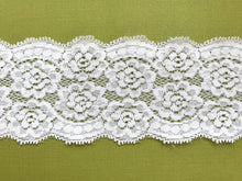 Ivory Stretch Galloon Nottingham Lace 6.5 cm/2.5""