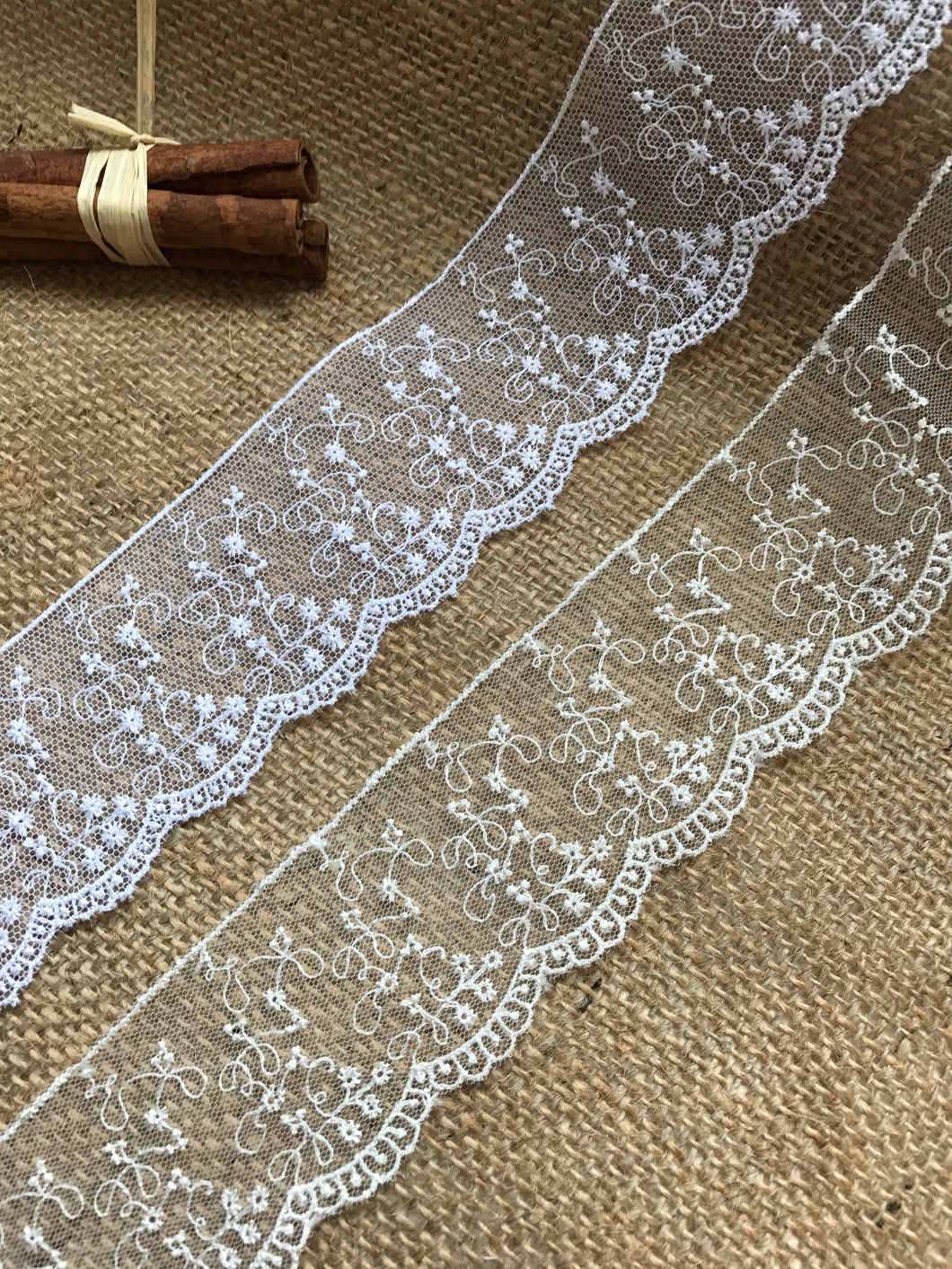 Delicate Embroidered Tulle Bridal Lace Trim 5 cm/2