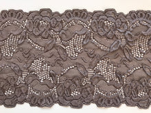 Taupe Mocha Soft Stretch Scalloped Lace 16 cm/6.25""