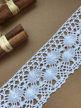 White Cotton Crochet Premium Nottingham Cluny Lace  75mm/3""