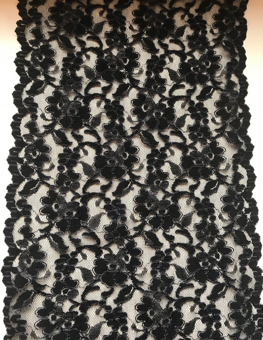 Black Cord Wide Nottingham Dress Lace 23 cm/9