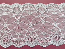 Ivory French Soft  Stretch Lace 17cm/6.75""