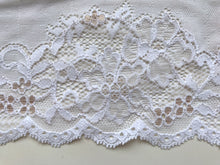 Beautiful White Stretch French Lace 16.5 cm/6.5""