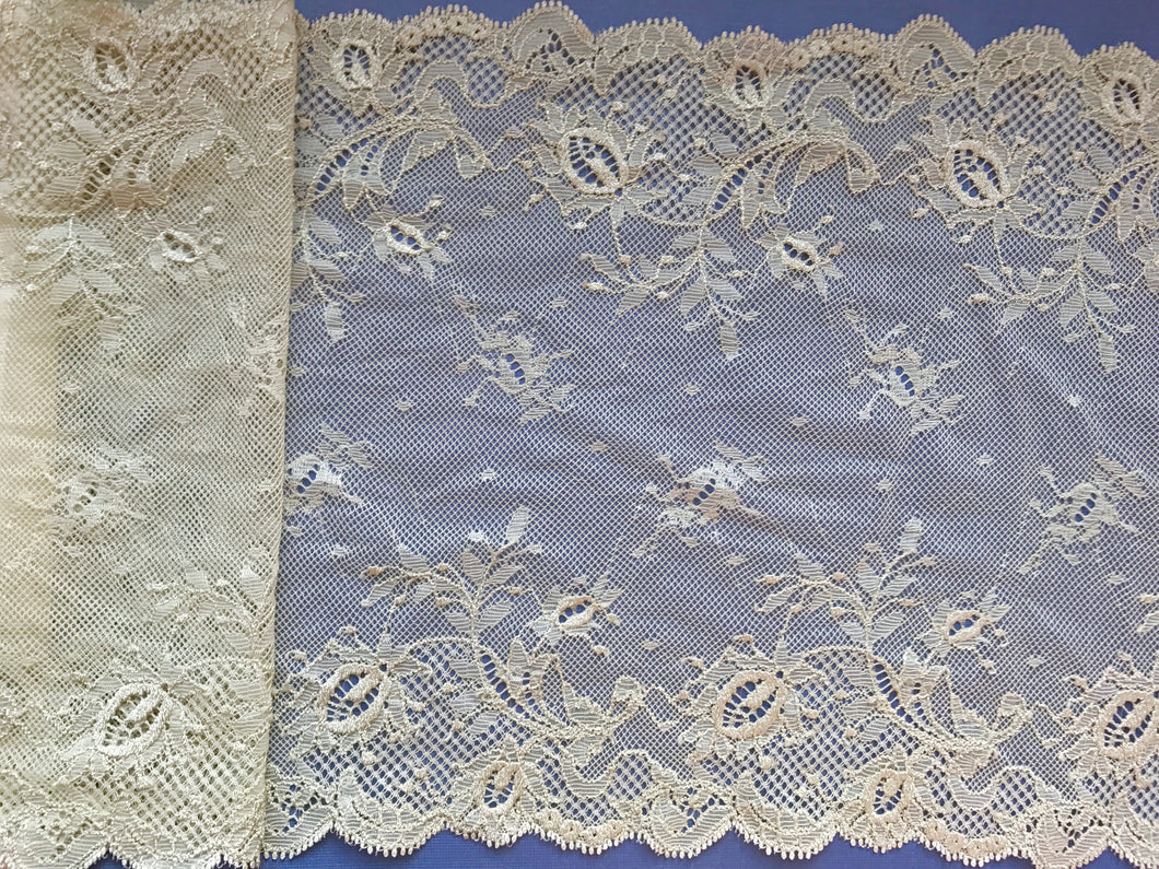 Smokey Sage Green Stretch Wide  Lace 23 cm/ 9