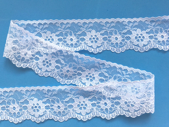 Pretty White Nottingham Lace 3 cm/1.25