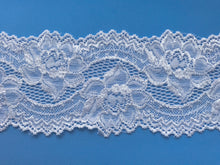 White Silky Soft Stretch Lace 9 cm/3.5""