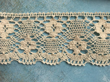 Natural Ecru Cotton Crochet Premium Nottingham Cluny Lace  7.5 cm/3""