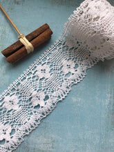 White Cotton Crochet Premium Nottingham Cluny Lace  8 cm:3.2""