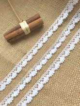"White Cotton Narrow  Lace Trim  0.5""/1.3 cm"