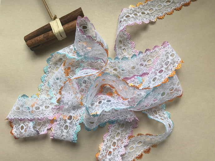 *NEW COLOUR* Summer Ombre Eyelet Knitting in Lace 35mm