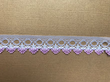 *NEW* Single Edge White/Pink Eyelet Knitting in Lace 18 mm