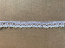 *NEW* Single Edge White/Gold Eyelet Knitting in Lace 18 mm