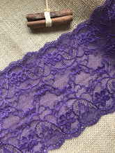 Beautiful Soft Stretch Purple Lace 17cm/6.75""